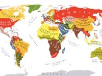 世界の見え方が変わる、おもしろ世界マップ