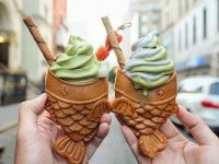 NYで新たな進化?たい焼きアイスクリームが人気