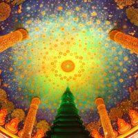 【タイ】プラネタリウムみたいな寺院。可愛すぎる「WatPaknam(ワットパクナム)」