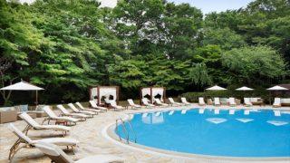 日曜日の朝はプールサイドで優雅に朝食を【グランドプリンスホテル新高輪】