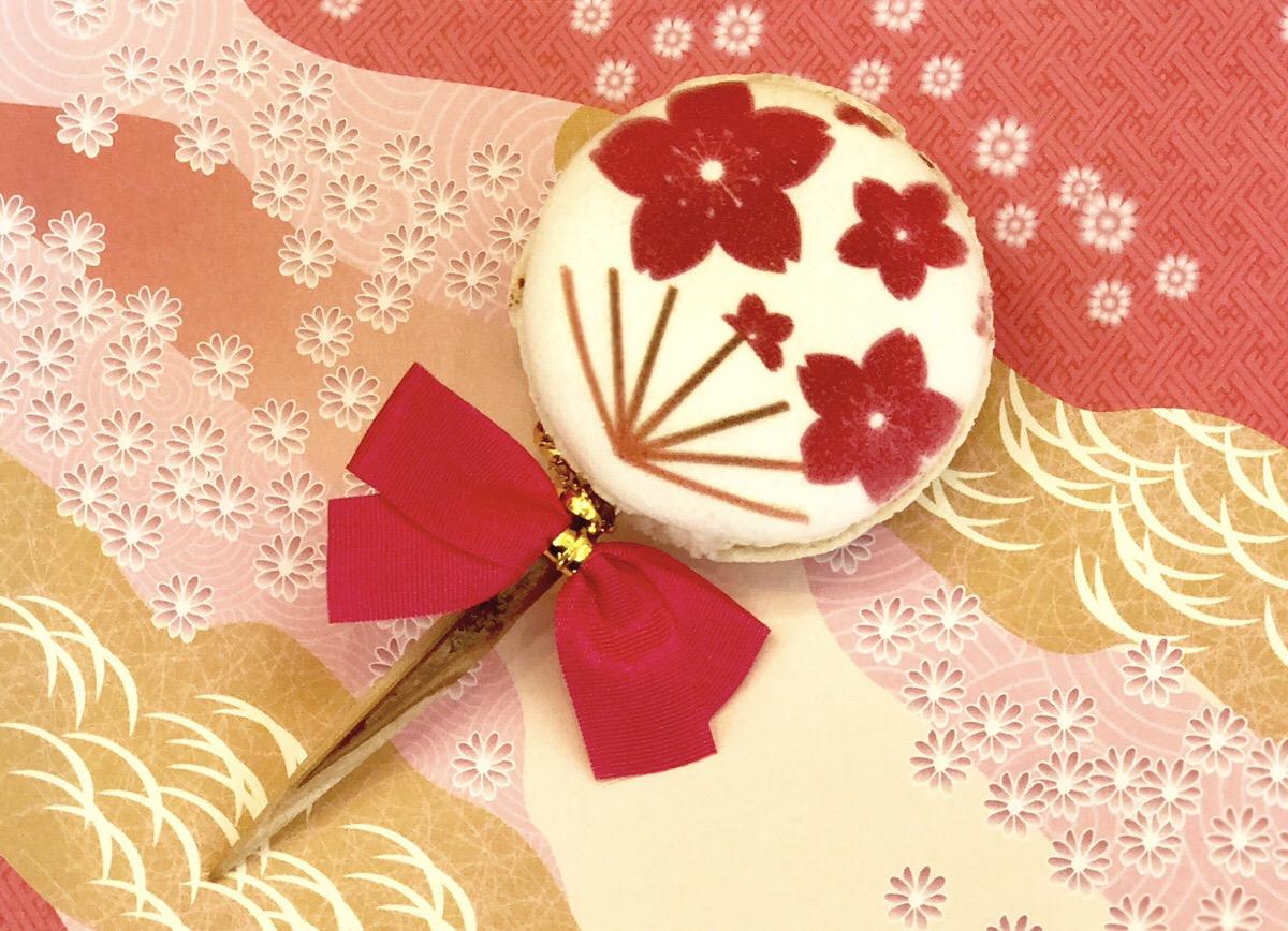 「うちわマカロン」期間限定で学生にプレゼント@原宿