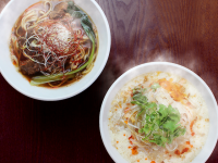 台湾のローカルヌードルふるふる豆乳の「豆漿鶏湯麺」と「麻辣牛肉麺」が登場!【春水堂】