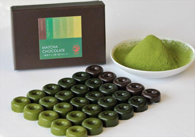 あなた好みの濃さはどれ?最大24%の抹茶濃度「抹茶チョコ食べ比べセット」