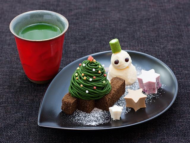 店舗毎にバラエティ豊かなスイーツのクリスマスツリー!「茶寮都路里」のクリスマスメニュー