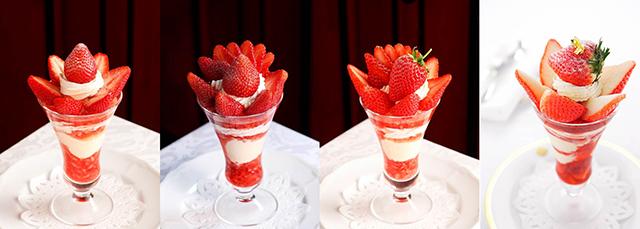 """1月15日""""いいいちごの日に、全国のおいしい苺の中からこだわりの10種の苺パフェが登場!"""