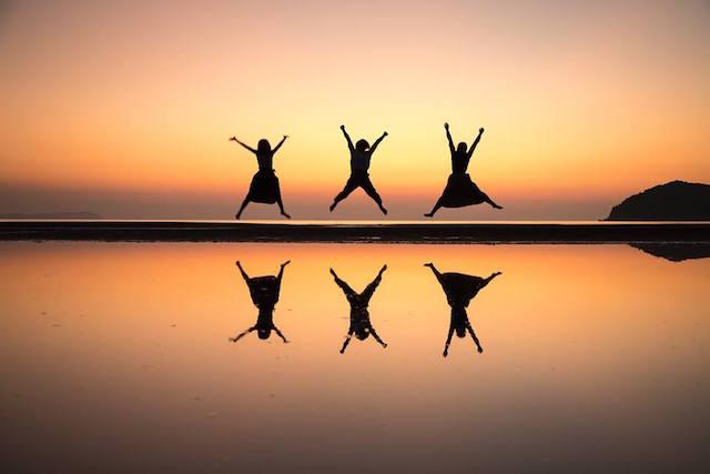 【天空の鏡】自分の心を映してみたい、香川県父母ヶ浜