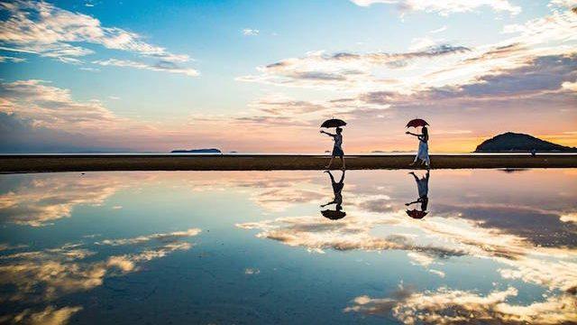 【天空の鏡】自分の心を映してみたい、日本のウユニと呼ばれる香川県父母ヶ浜