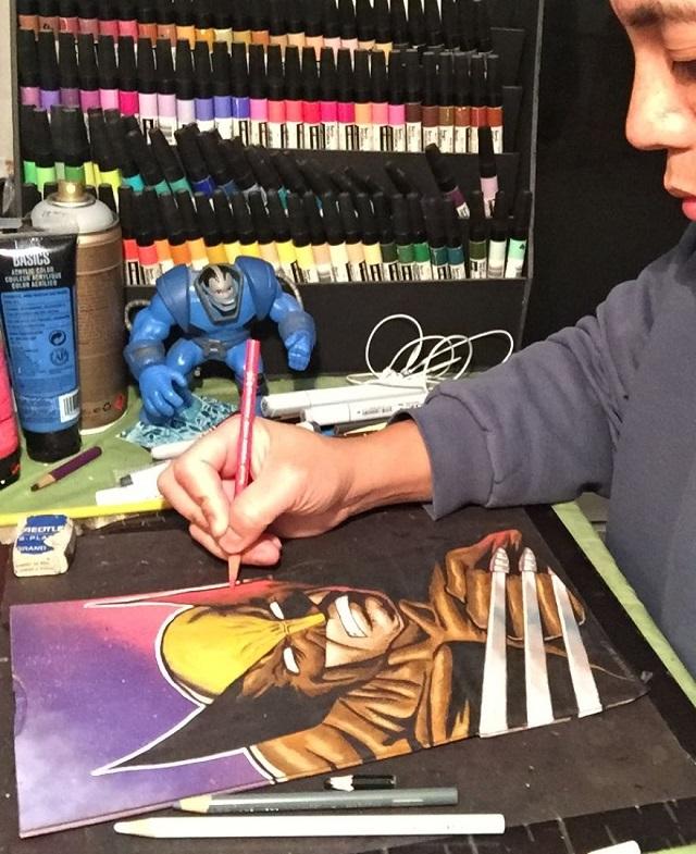 パパが息子のために描き続ける「ランチBagアート」