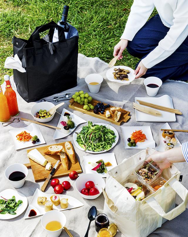お花見やピクニックにぴったりのトートバッグ「nonomana ノノマナ」