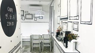 まるで絵本の中?3Dなのに2Dの世界にいるみたいな不思議カフェ「Cafe 연남동 239-20」
