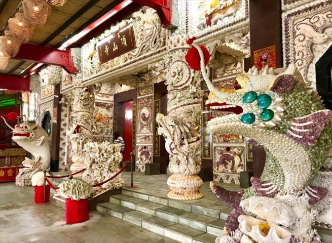 【台湾】美しい山の上の龍宮城「貝殻廟」で金運アップ!