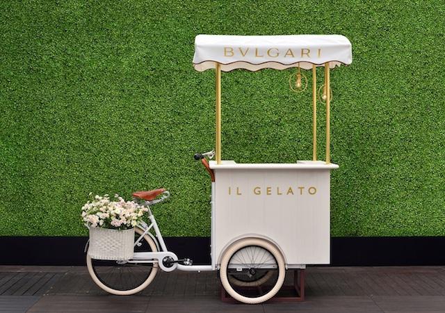 ジェラート・トロリーが初登場。ブルガリ 東京レストランでドン ペリニヨンを