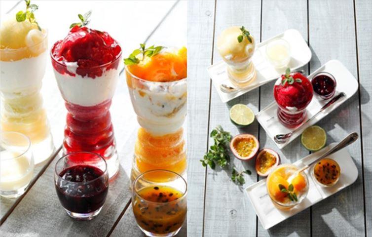 夏にピッタリ!色鮮やかな「サマージュエルパフェ」と爽やかさ香る「シトラスアフタヌーンティー」を楽しむ
