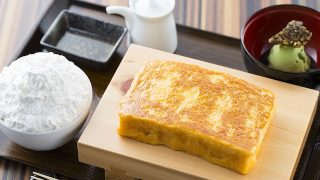 行列パンケーキ店の卵焼き定食みたいなフレンチトースト【TAMAGOYA】