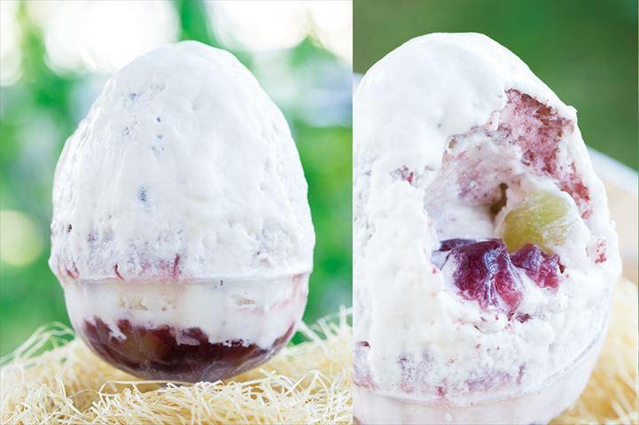 炙りかき氷!?そして中を割ってびっくりなたまご型の絶品かき氷