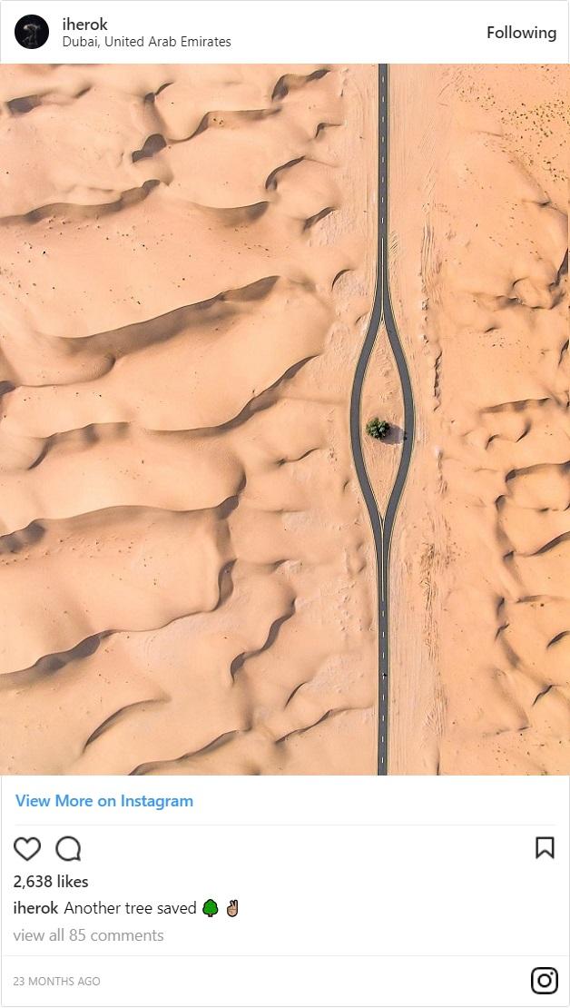 【上空からこんにちは】ドバイとアブダビの砂漠ドライブが素敵
