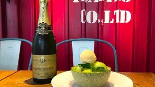 大人の夏のご褒美に。目の前でシャンパンを回しかける、メロンクリームソーダ【成城石井】