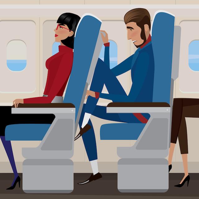 「座席を倒してもいいですか?」は何て言う?トラベルお願い英会話【飛行機編】