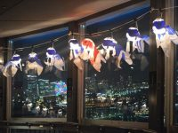 日本の夏を感じる、横浜マリンタワー展望台に「金魚ちょうちん」が点灯中