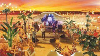"""無人島""""猿島""""で、南国気分の「シャンドン」泡パーティーを。"""