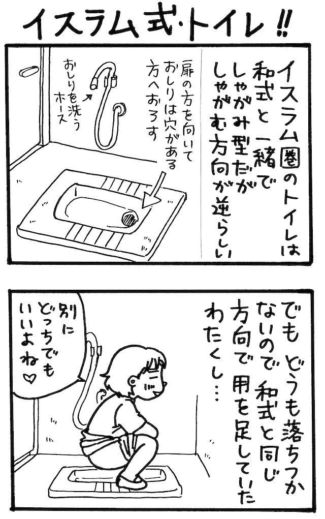 旅漫画「バカンスケッチ」【4】イスラム式・トイレ!!