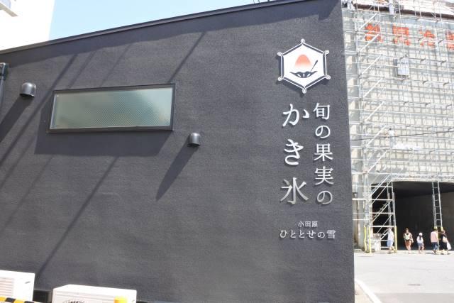 残暑は小田原で涼をとる。かき氷というか、かきフローズンフルーツのお店
