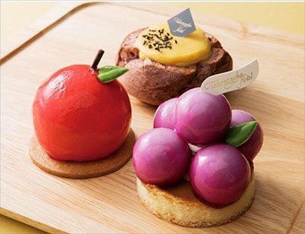 食べるのが勿体ない可愛さ。ぶどう、りんご、安納芋3種の秋限定スイーツ