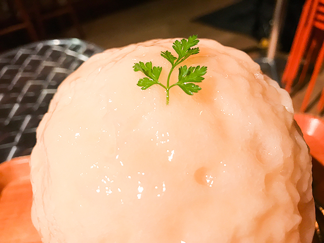 かき氷が大好きな女性が作る丸い絶品氷!「かき氷 喫茶バンパク」