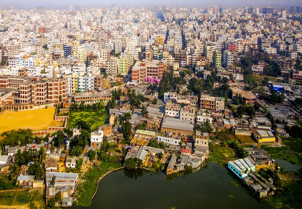 人口密度が高いバングラデシュ首都ダッカ