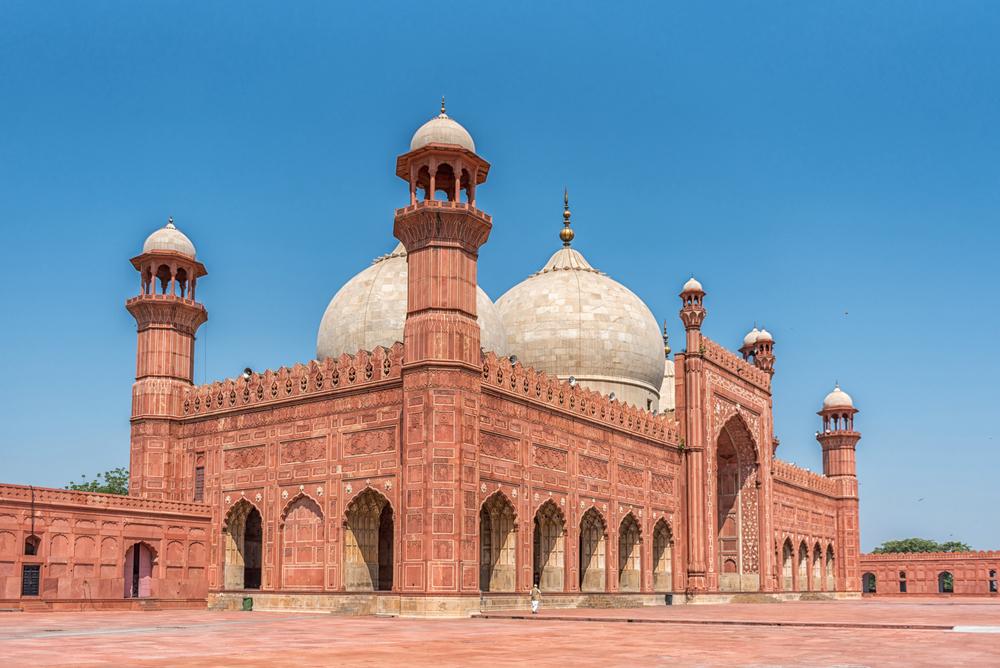 パキスタンのラホールにあるバードシャーヒー・モスク