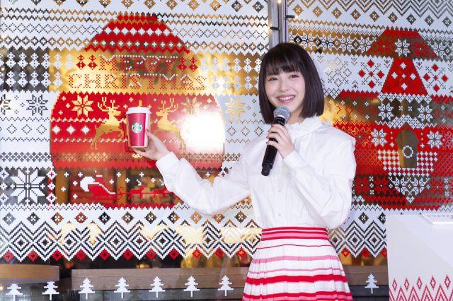 11月1日に行われた点灯式の浜辺美波さん
