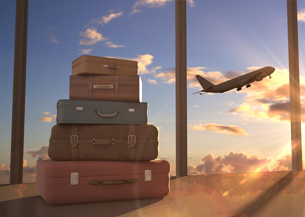 スーツケースと飛行機