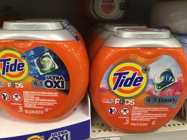 進化系洗濯洗剤 4種類成分入りのタイドポッズ