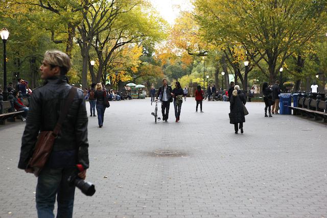 ニューヨーク セントラルパーク 紅葉時のザ・モール