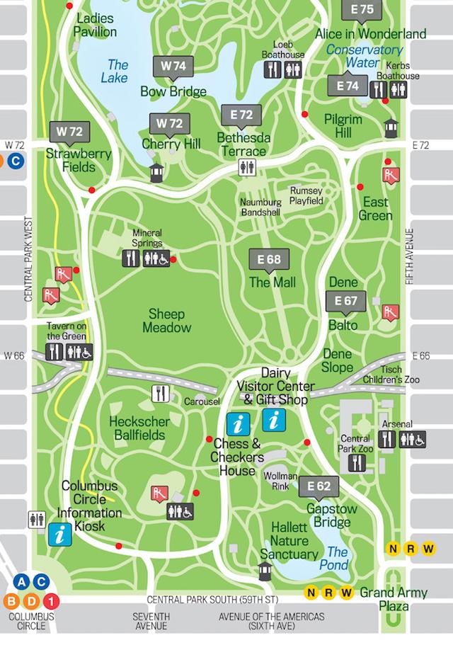 セントラルパーク地図