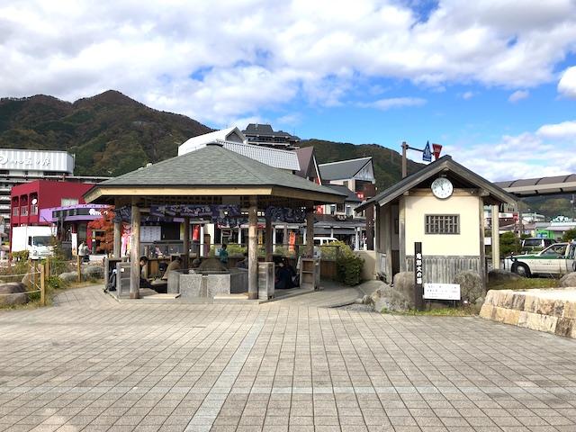 鬼怒川温泉駅前 足湯「鬼怒太の湯」