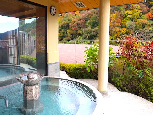 鬼怒川温泉「あさやホテル」空中庭園露天風呂1