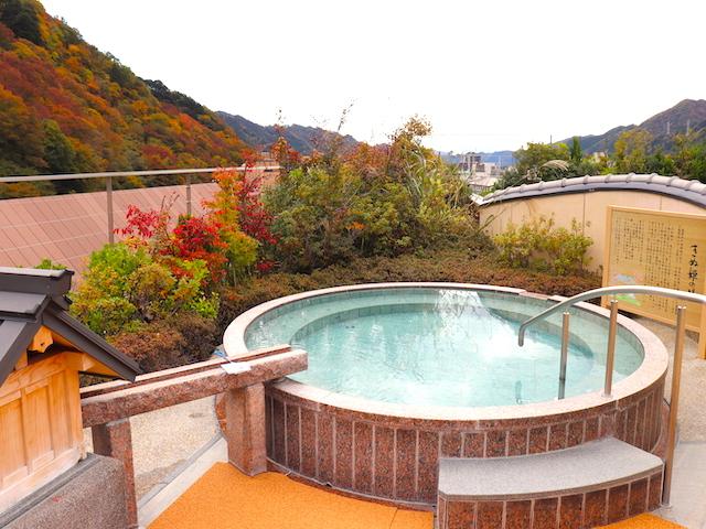 鬼怒川温泉「あさやホテル」空中庭園露天風呂3