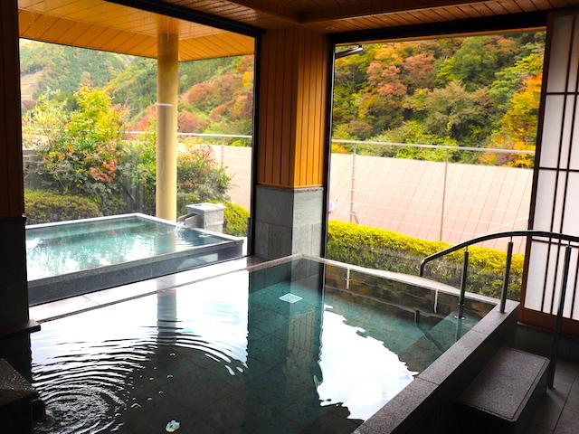 鬼怒川温泉「あさやホテル」空中庭園露天風呂7