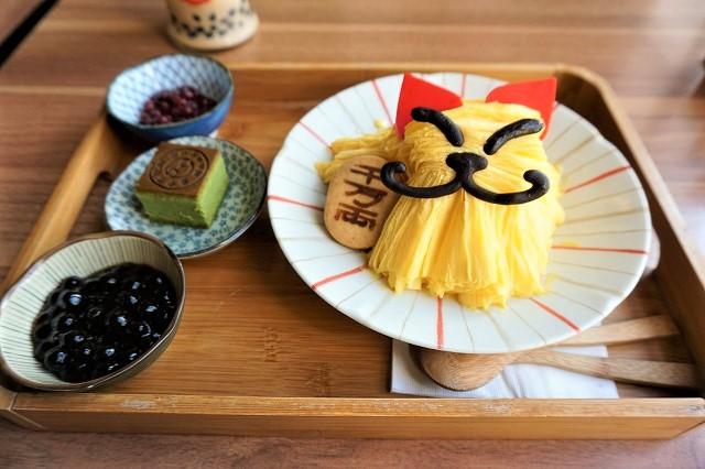 台湾「CAFE1911」猫かき氷1
