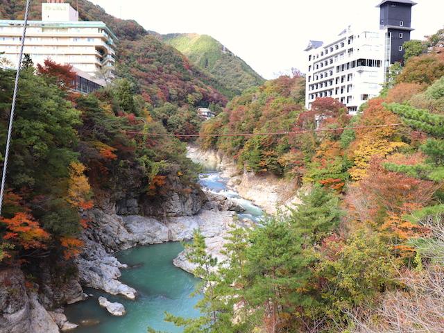 鬼怒川温泉 滝見橋からの眺め2