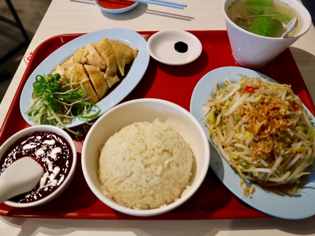 台北 シンガポール料理店「文慶鶏」海南鶏飯套餐