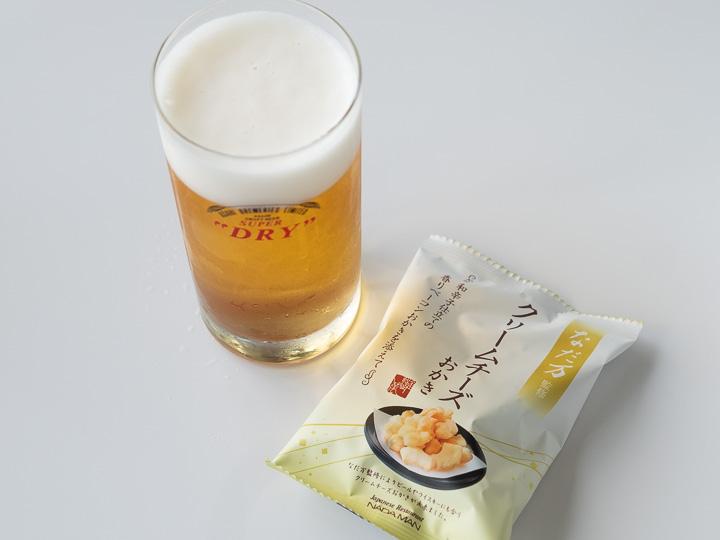 アサヒビール神奈川工場 試飲 なだ万おかき