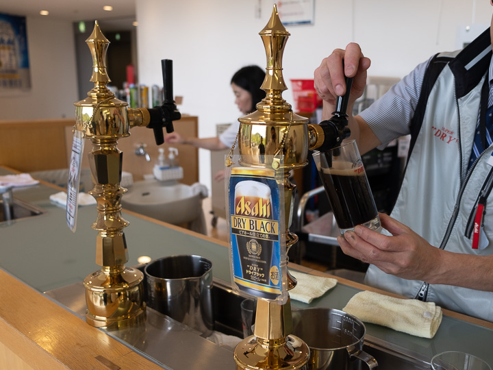 アサヒビール神奈川工場 ビールサーバー