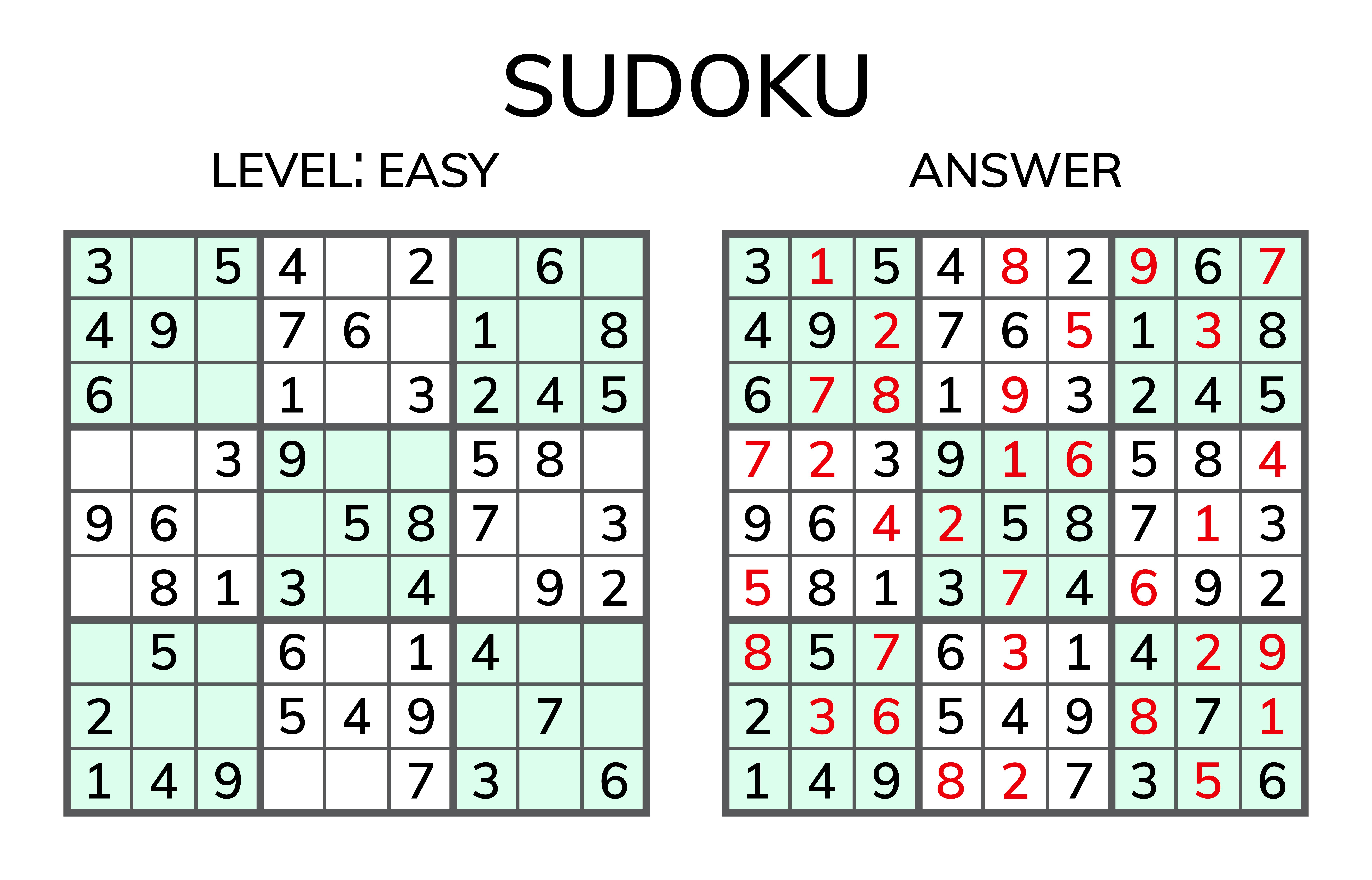 数独 SUDOKU 簡単レベル
