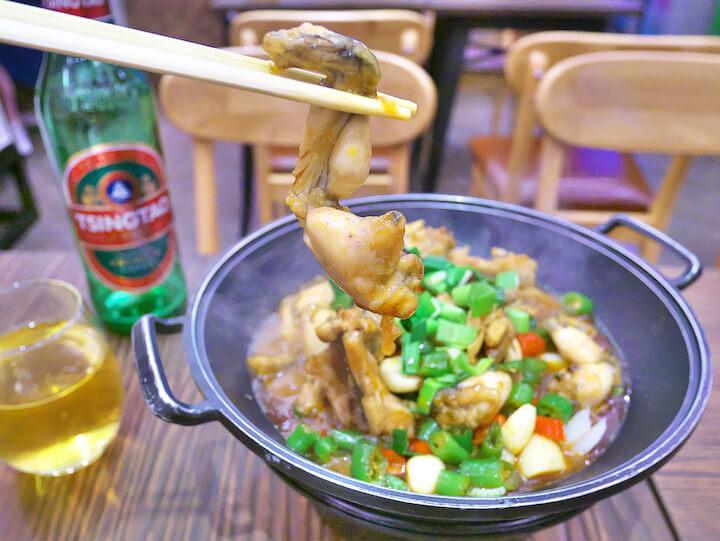 マカオ 干鍋田雞 カエルの足