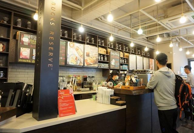 スターバックスコーヒー保安門市 店内カウンター