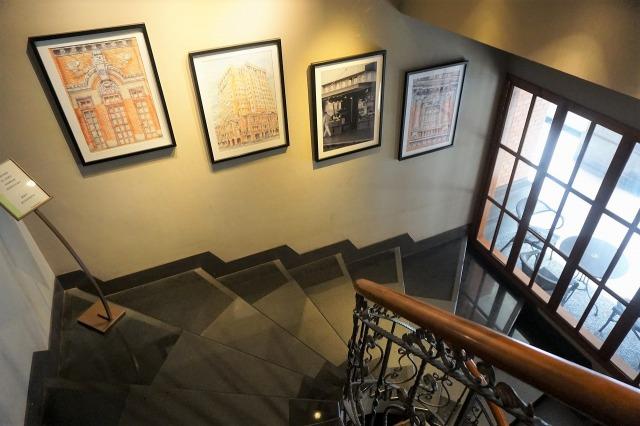 スターバックスコーヒー保安門市 店内螺旋階段