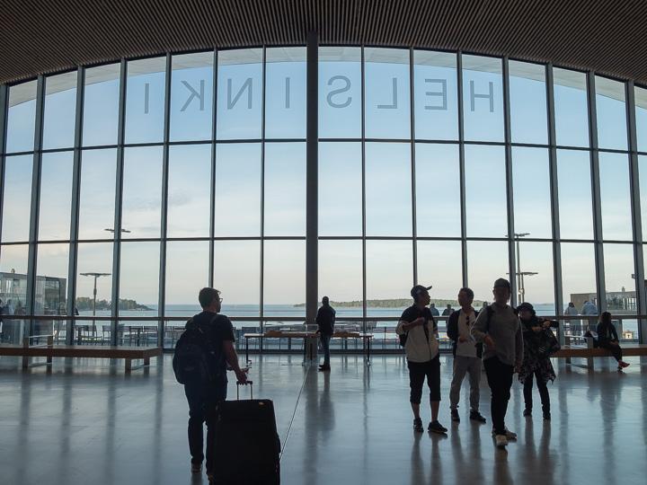 ヘルシンキのフェリーターミナル