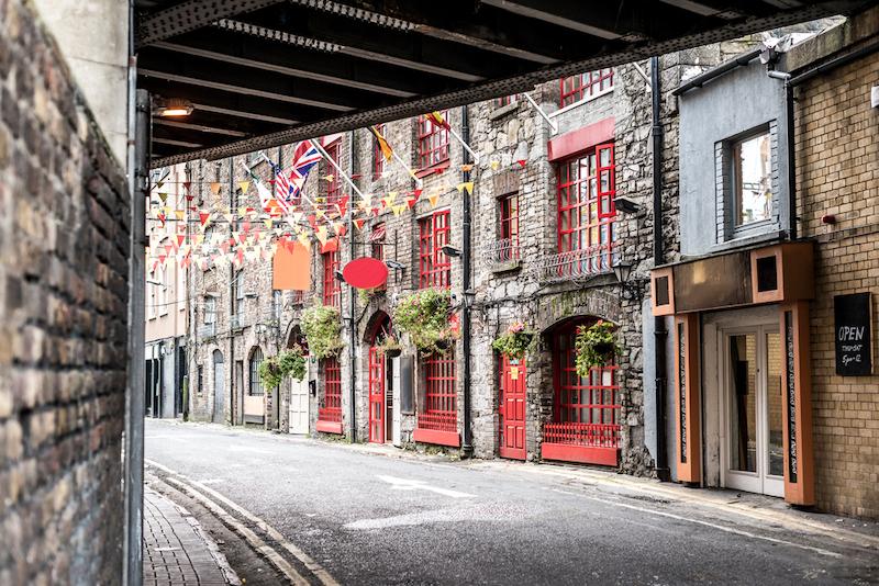 アイルランドの首都ダブリンのストリート
